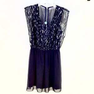 Accidentally In Love Navy Sequined Mini Dress